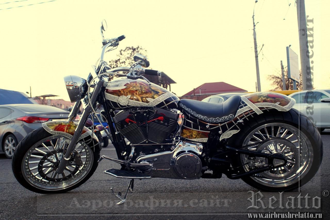 Аэрография Harley Davidson Санкт Петербург