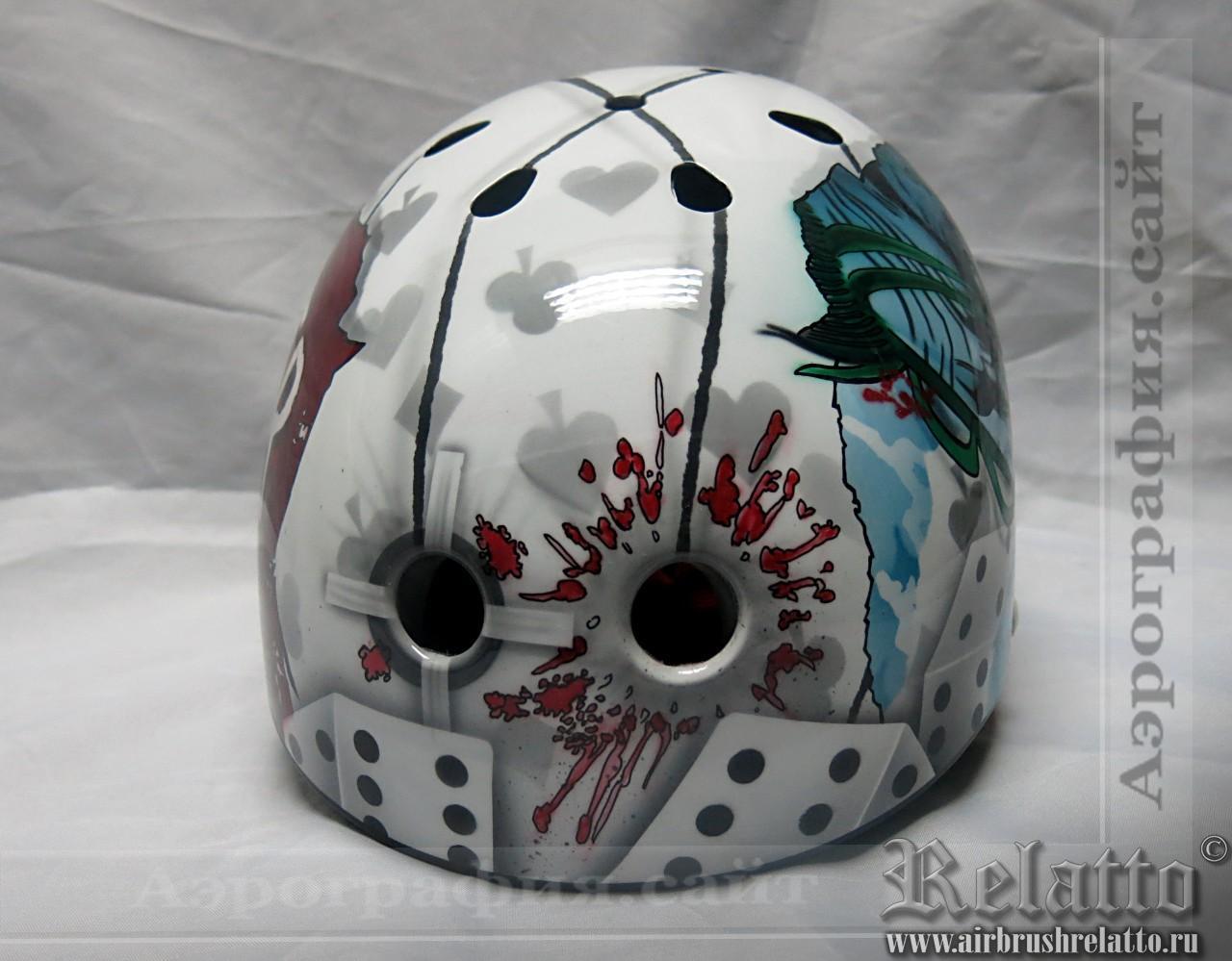 аэрография шлема на сноуборд