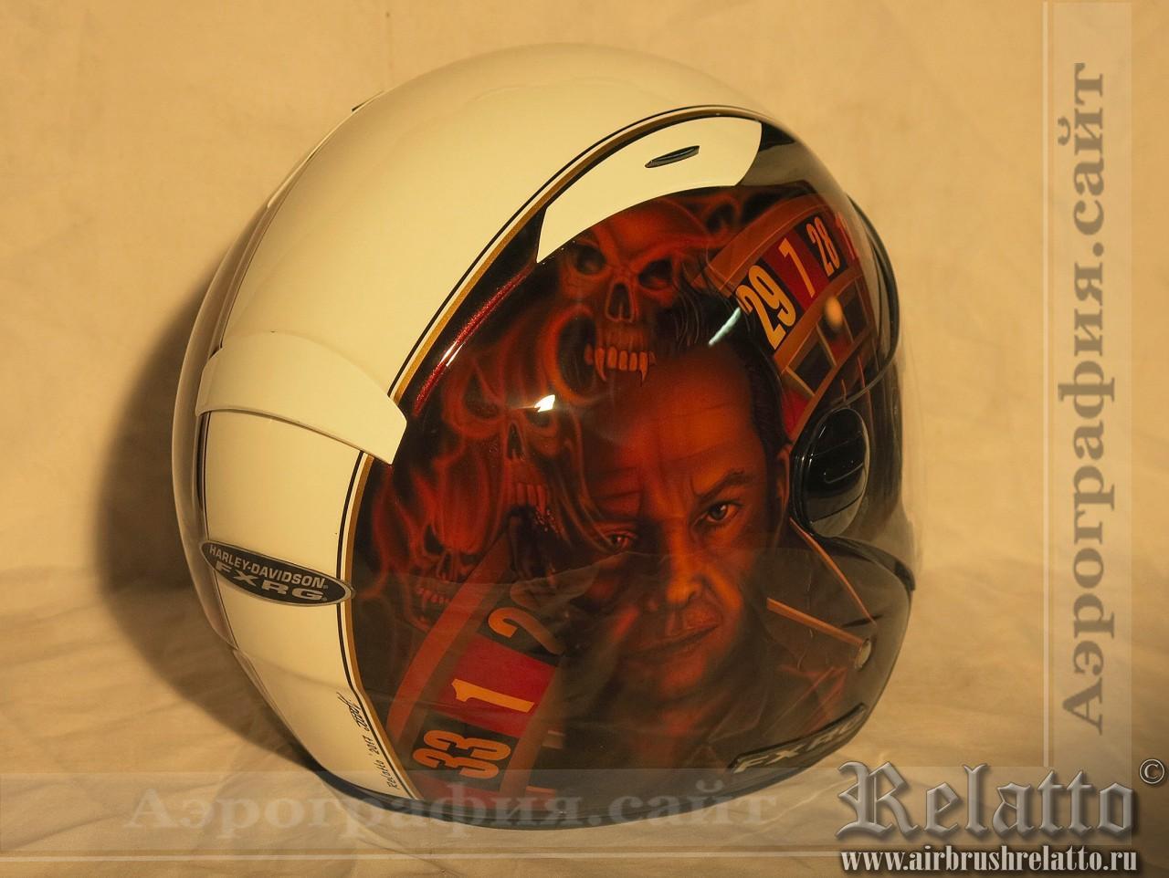 рисунки на шлемах Harley Davidson