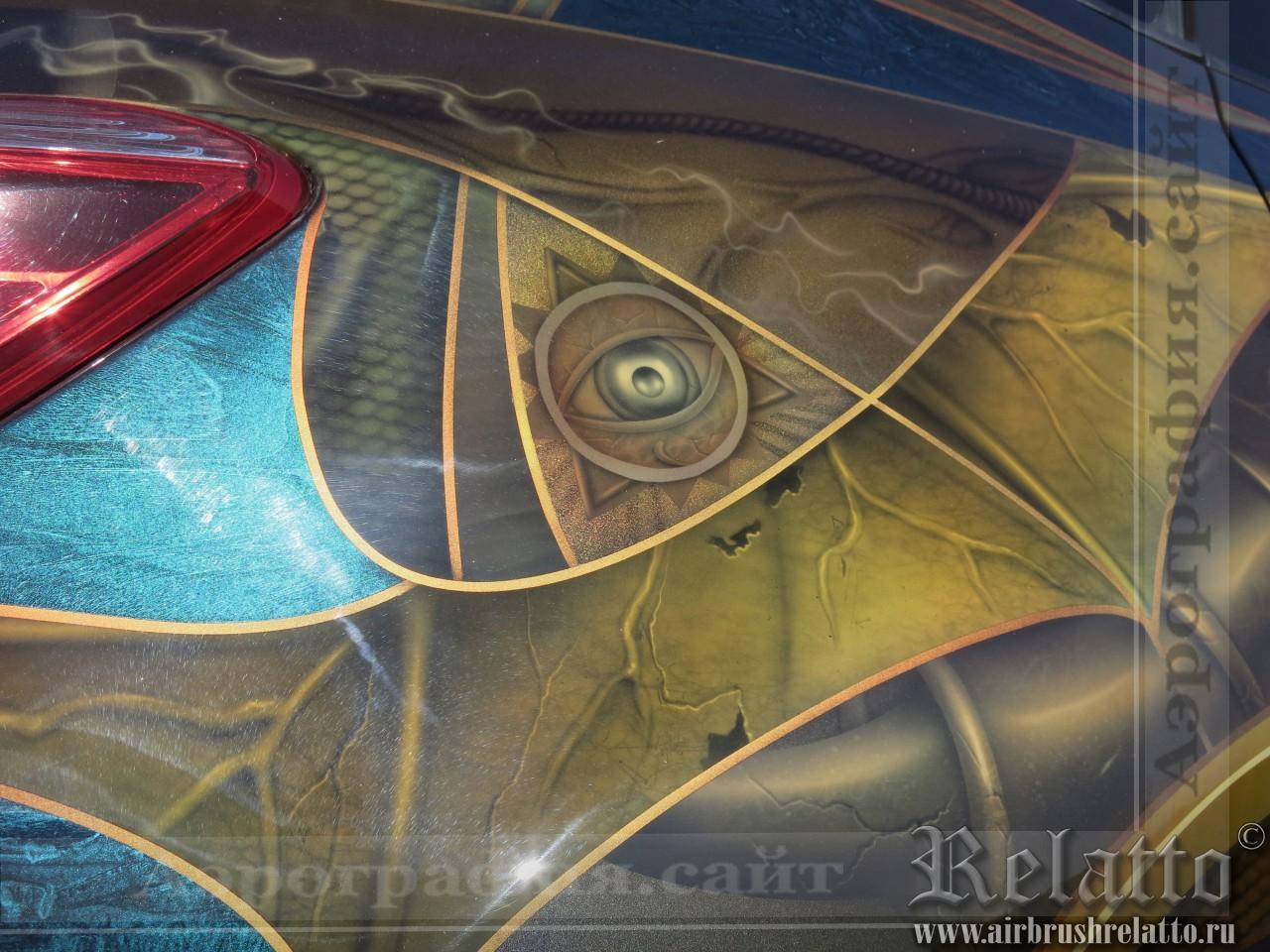 Рисунок на автомобиле Nissan Murano
