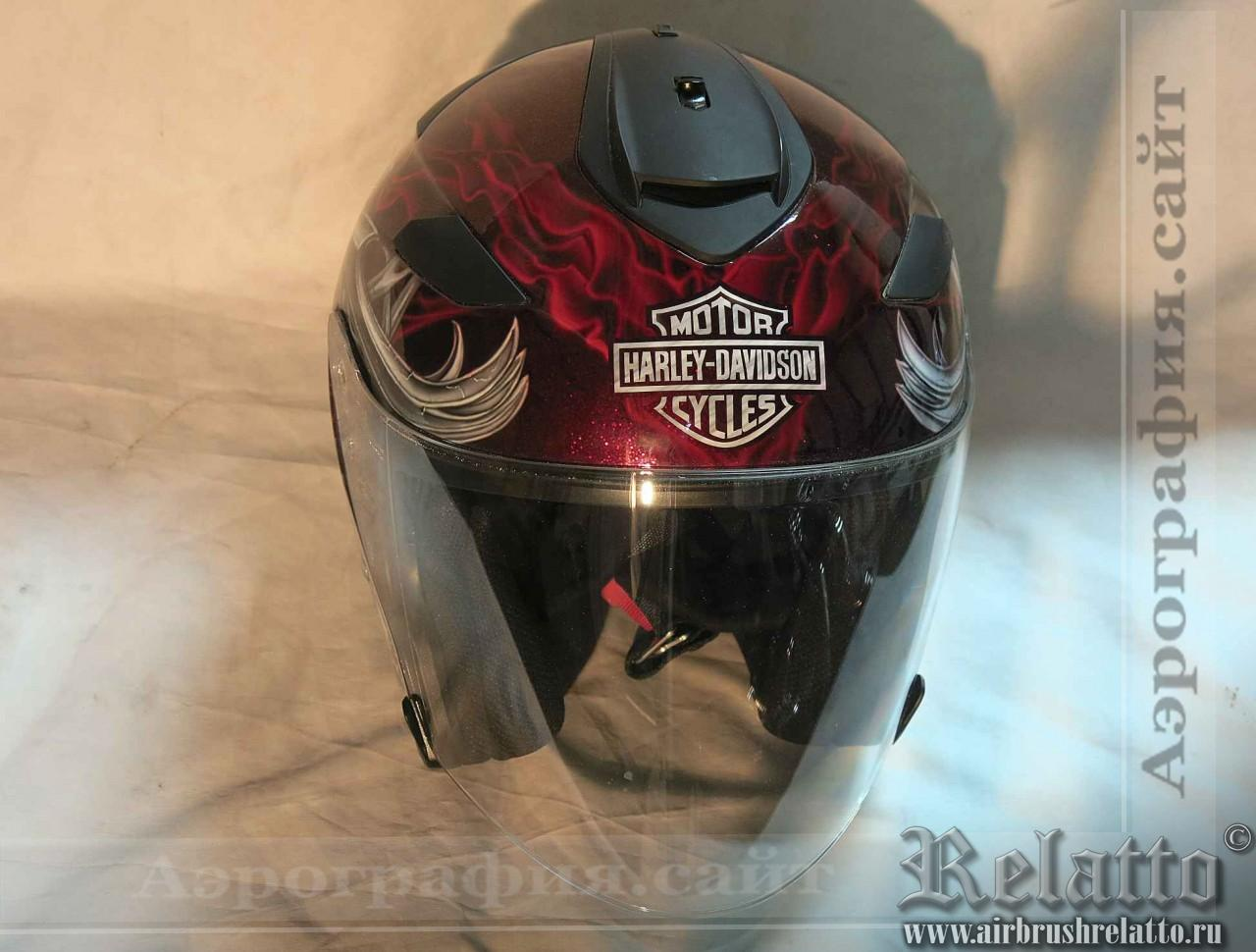 аэрография шлемов Harley Davidson