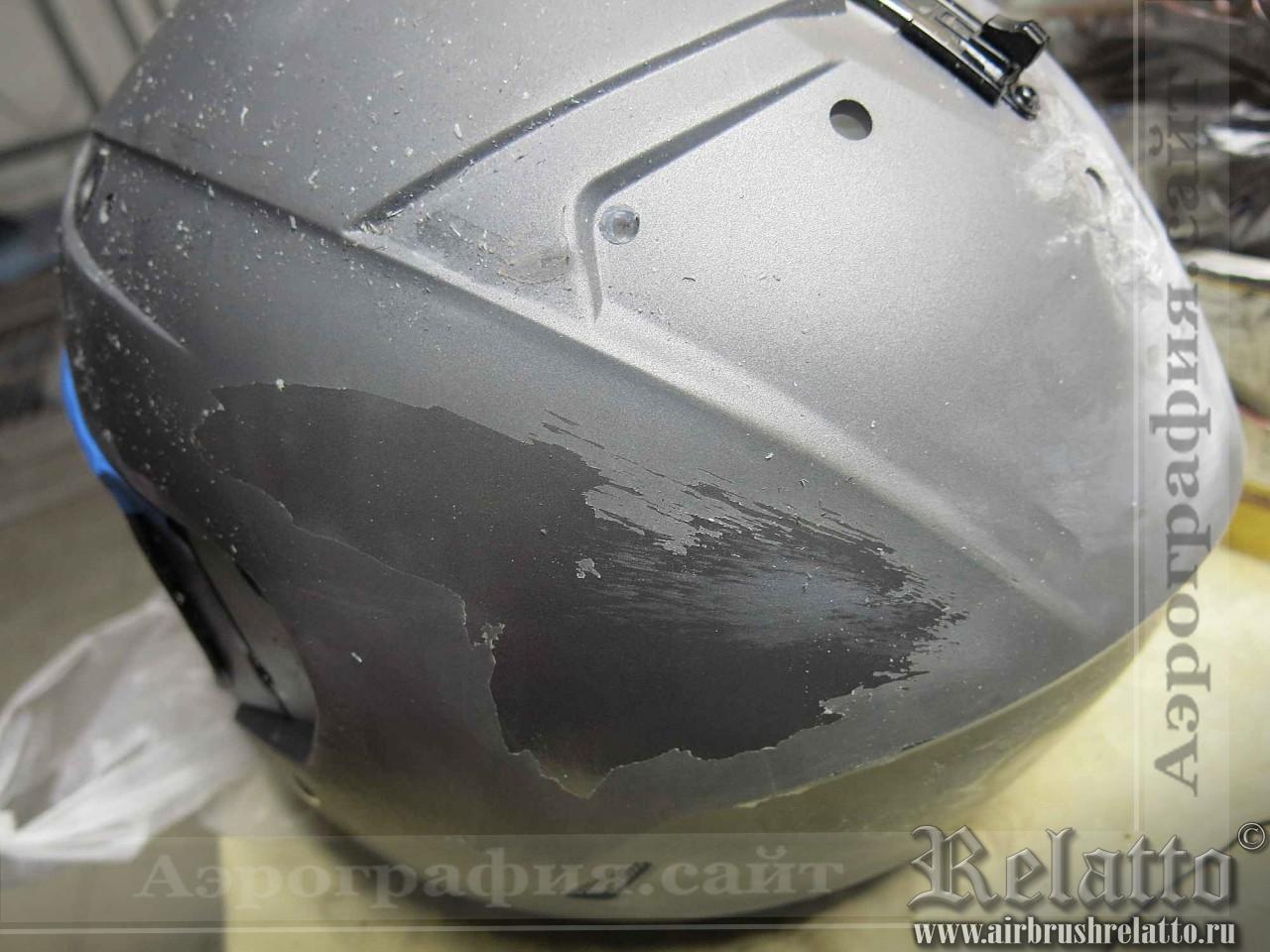 подготовка шлема к аэрографии