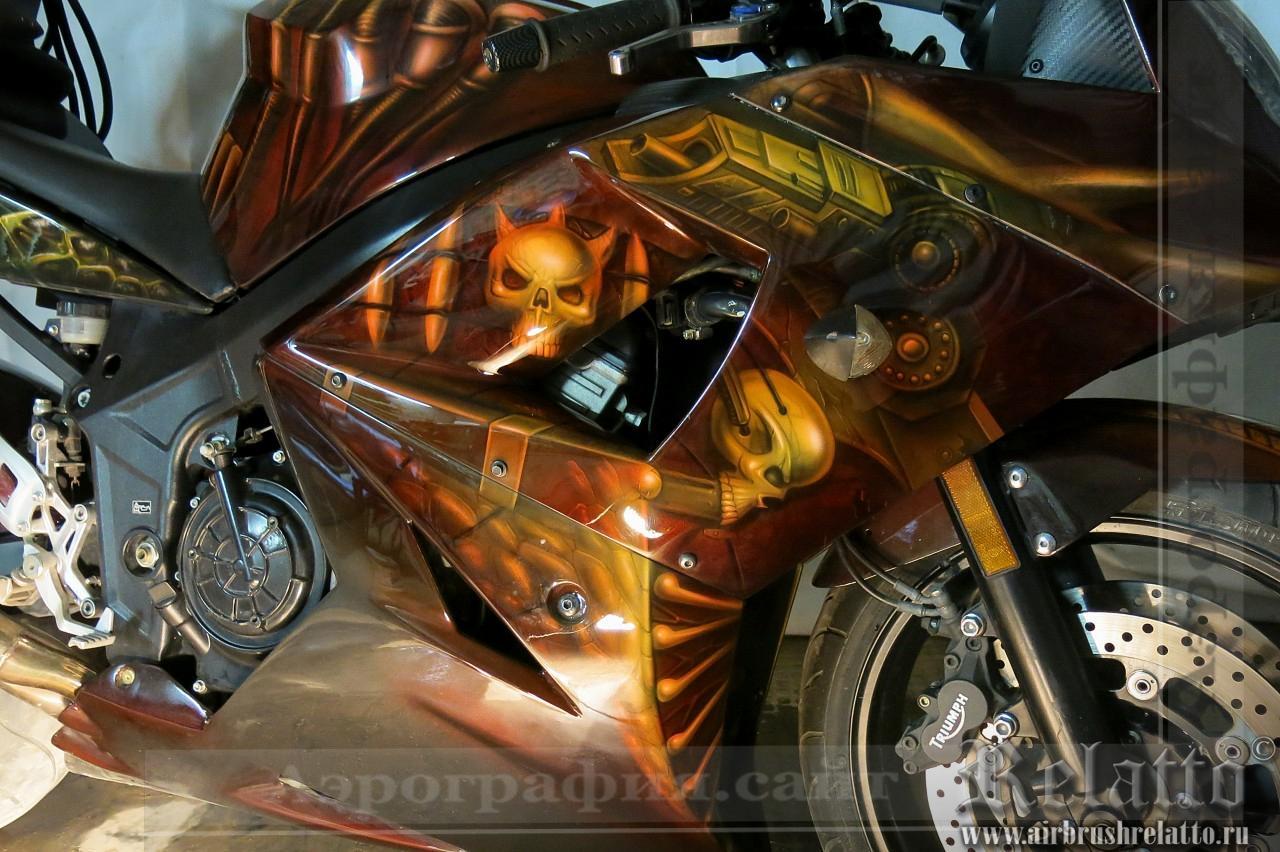 аэрография на мотоцикле Predator