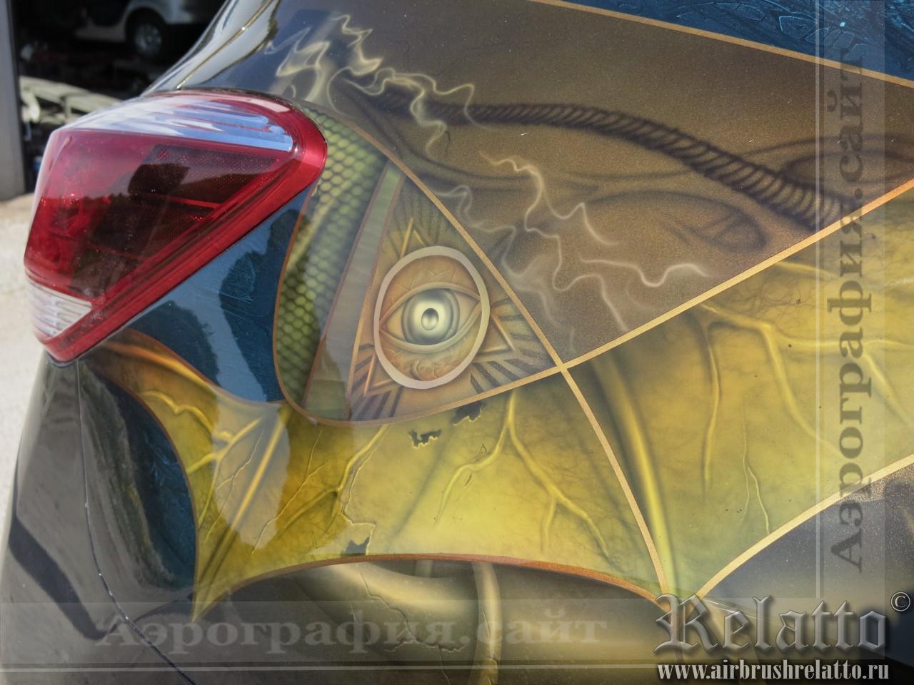 Рисунок на авто Nissan Murano