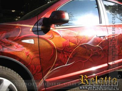 Рисунок на автомобиле Краснодар