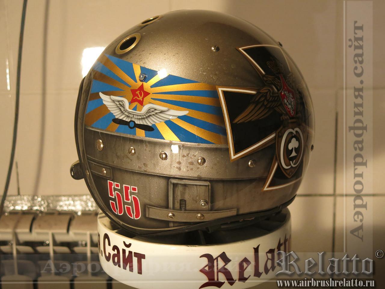 аэрография летный шлем в Краснодаре