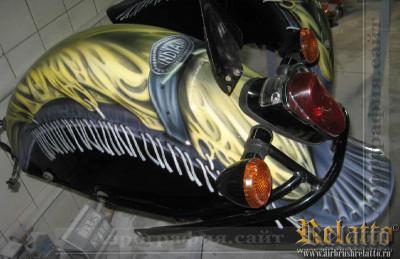 Роспись крыла мотоцикла