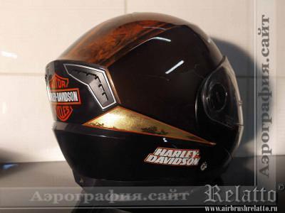 Аэрография на шлем Краснодар