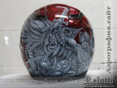 аэрография шлема ангел Краснодар