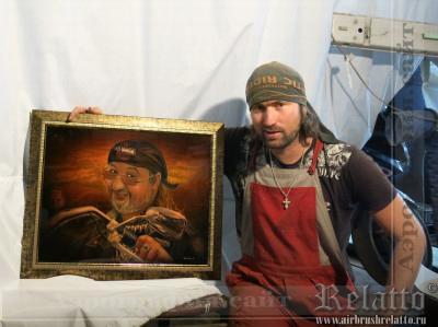 Подарочный портрет байкеру Relatto