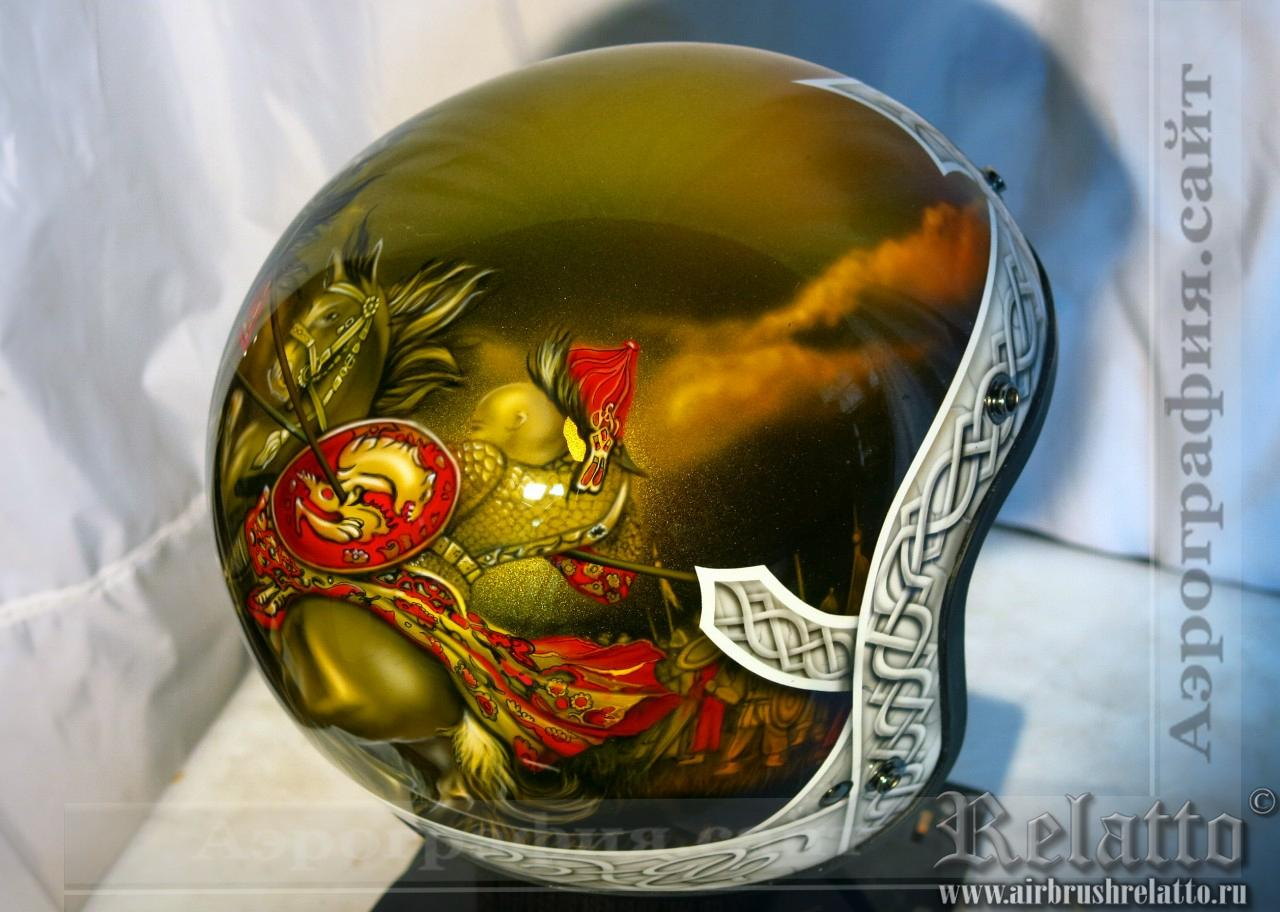 Аэрография шлема для Харлей Дэвидсон