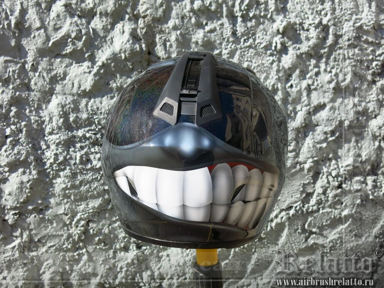 аэрография шлема - угарный тип