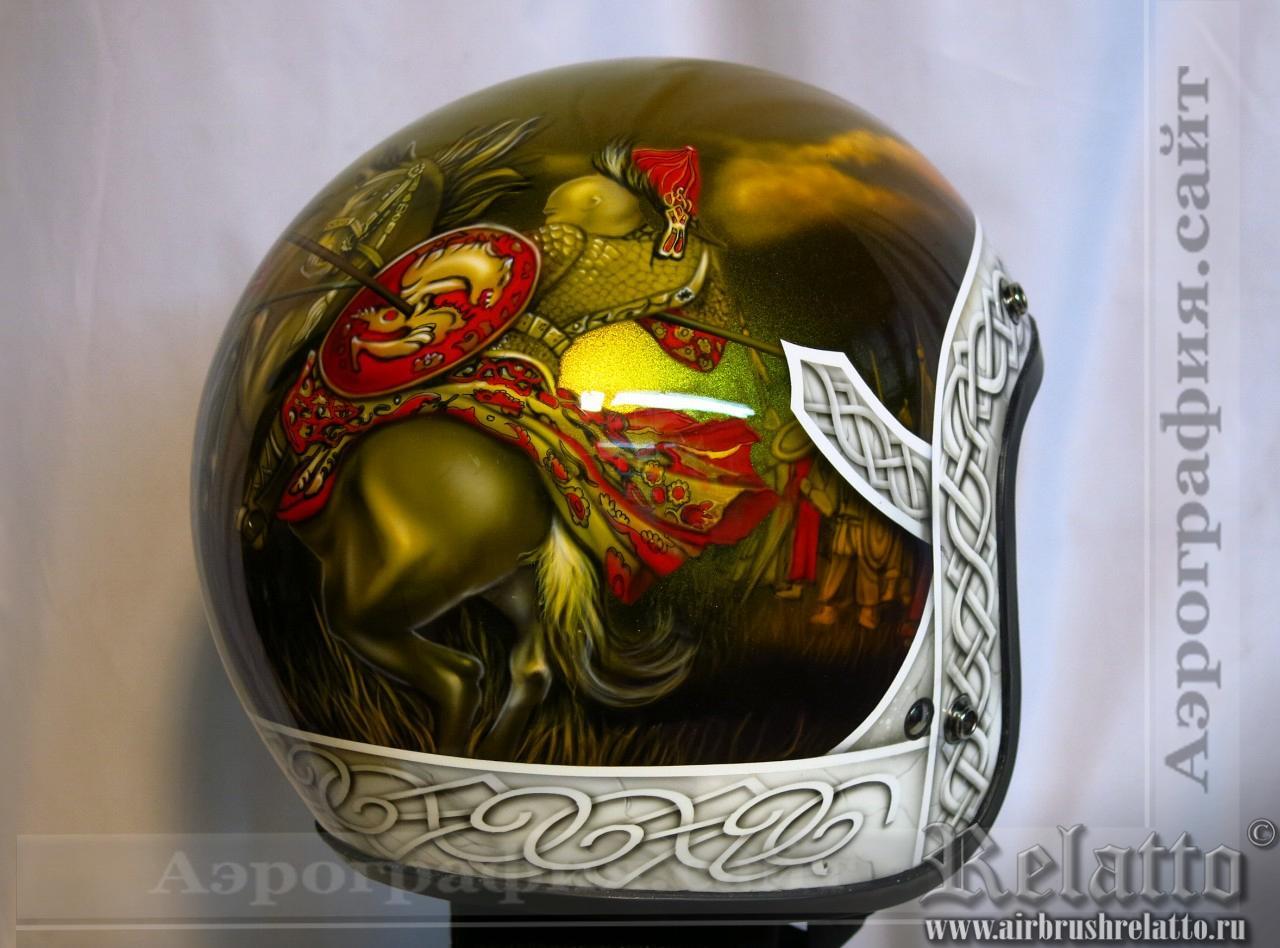Аэрография шлема к Харлей Дэвидсон