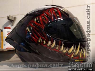 Аэрография на шлема веном Краснодар