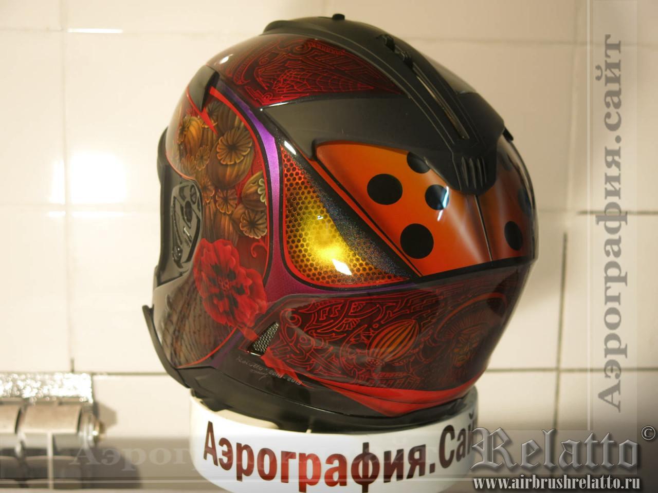 аэрография шлемов в Краснодаре