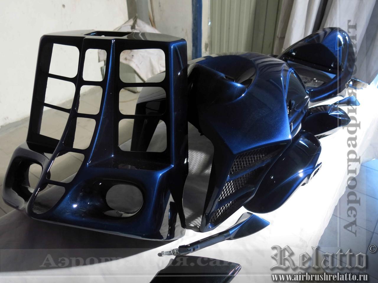 аэрография пластика мотоцикла