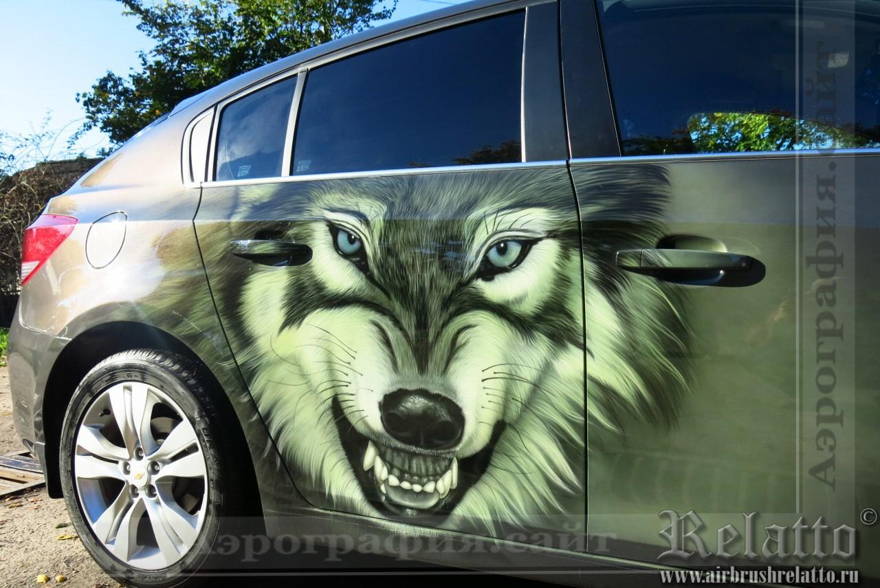 роспись авто Волк