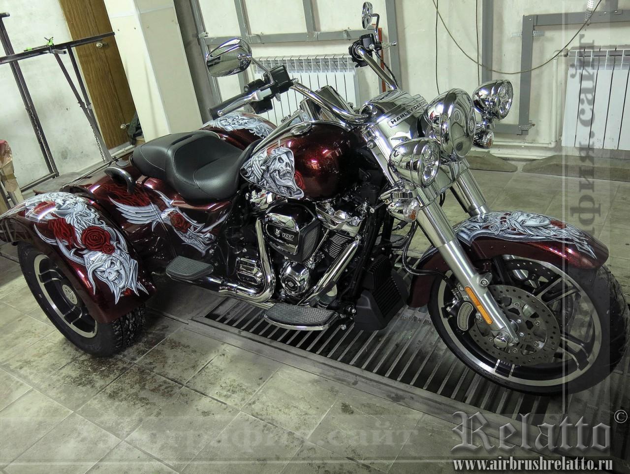 Роспись Trike Harley Davidson Freewheeler