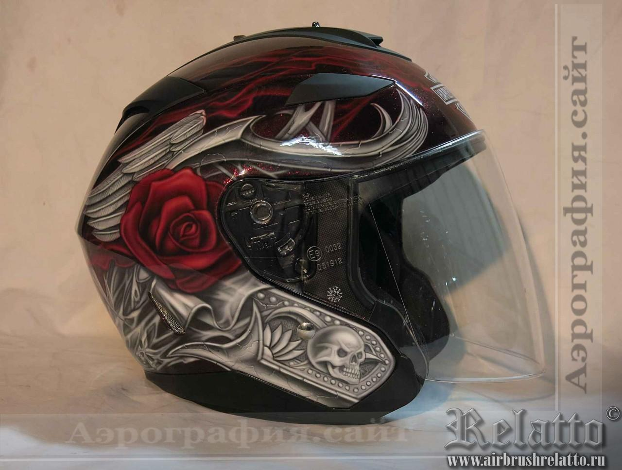 аэрография на шлем Harley Davidson
