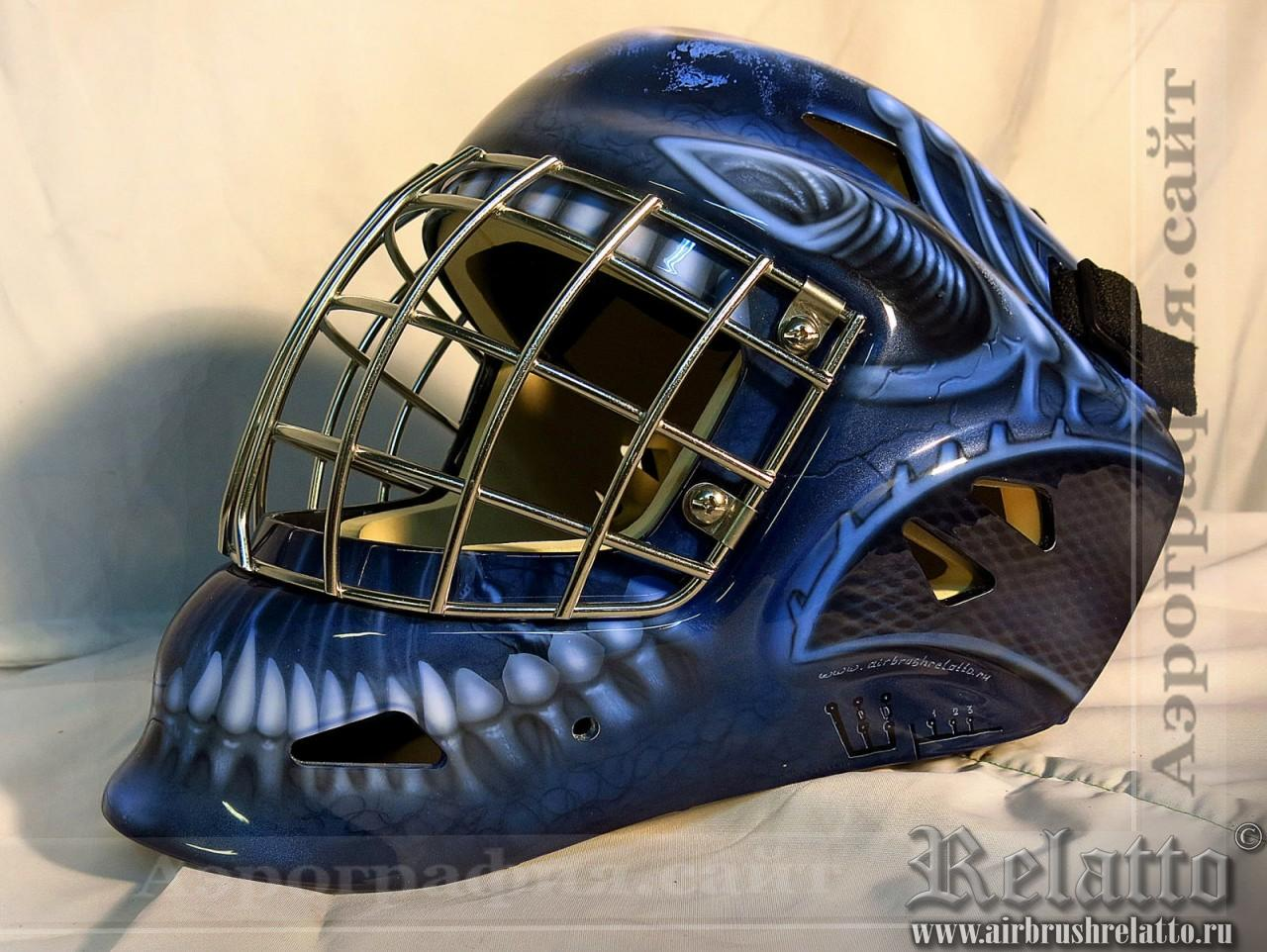 Аэрография вратарского хоккейного шлема