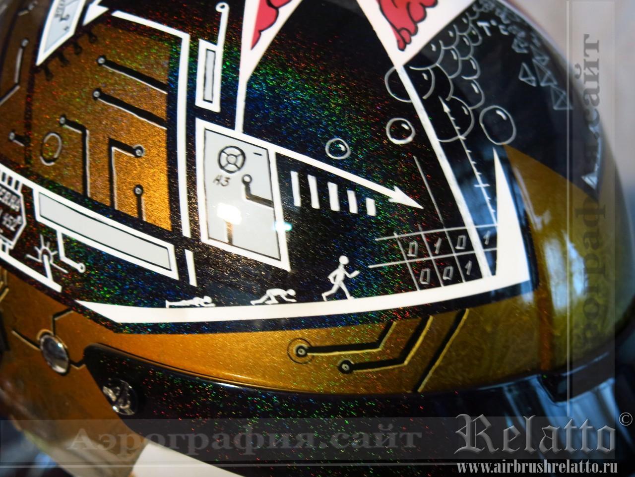 аэрография на шлеме Harley Davidson  Белгород
