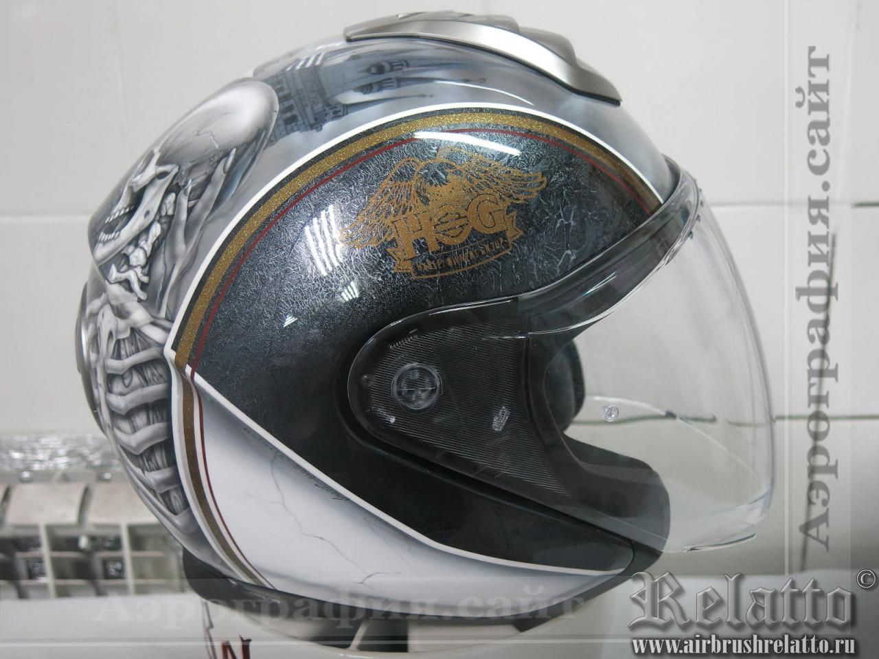 аэрография на шлеме HOG