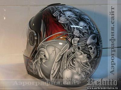 Аэрография шлема Harley-Davidson Белгород