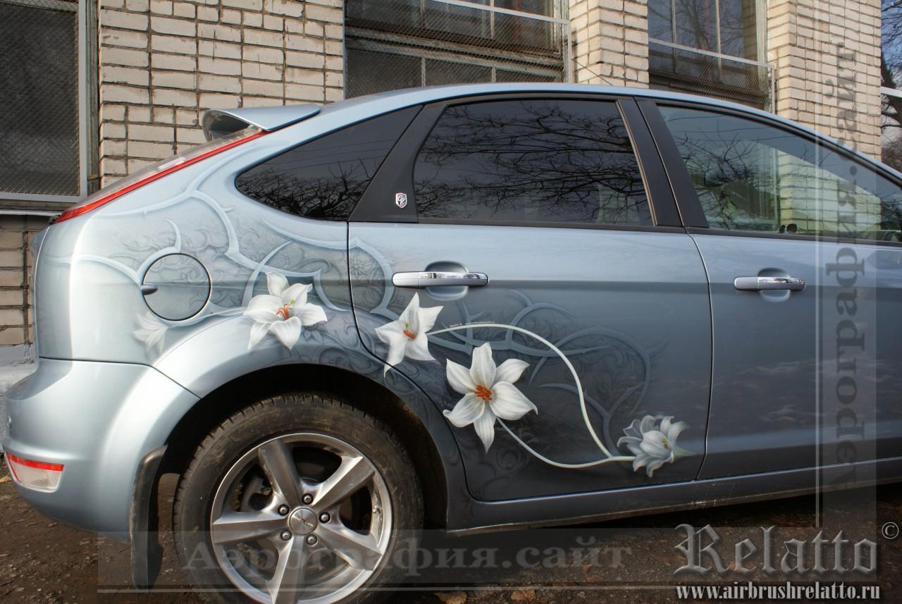 Аэрография Ford цветы узоры