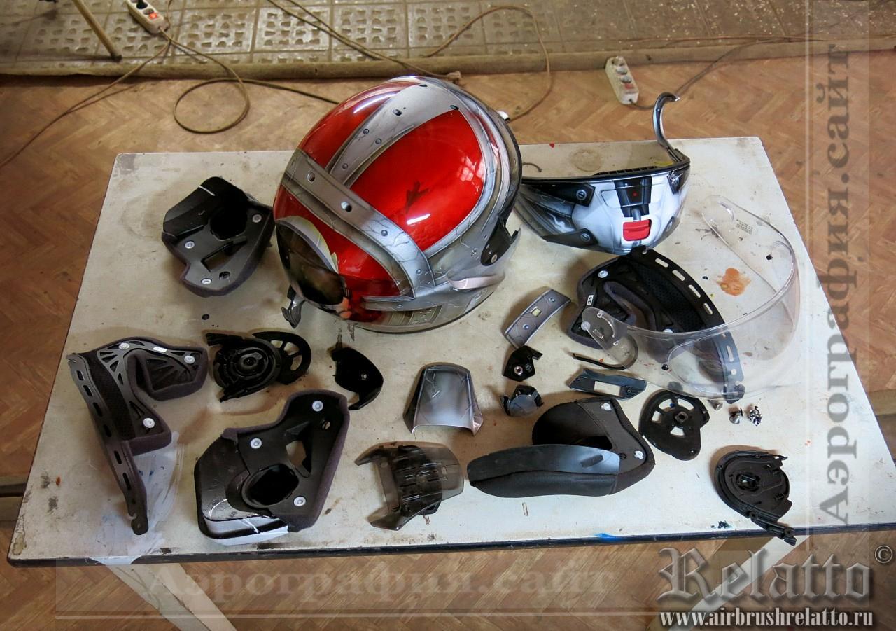 Разобранный шлем SHOEI