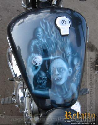 Бак мотоцикла Yamaha Virago 750