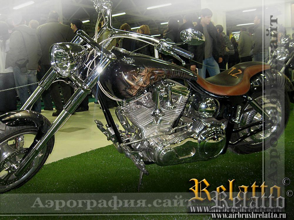 аэрография кастом мотоцикла Harley Davidson