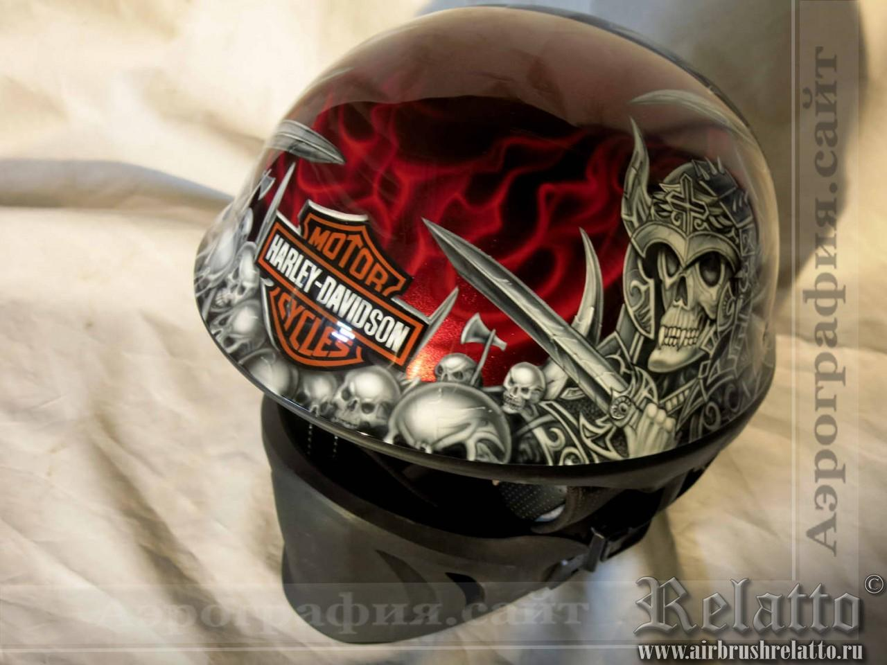 аэрография шлема harley davidson в Белгороде
