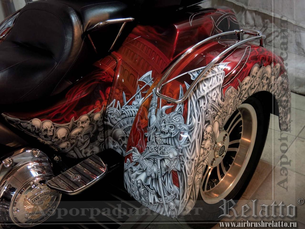 раскраска Harley-Davidson Tri Glide