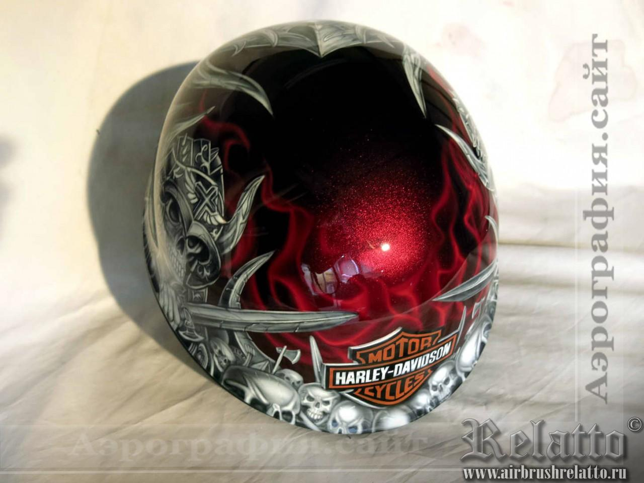 роспись шлемов Харлей Дэвидсон Белгород
