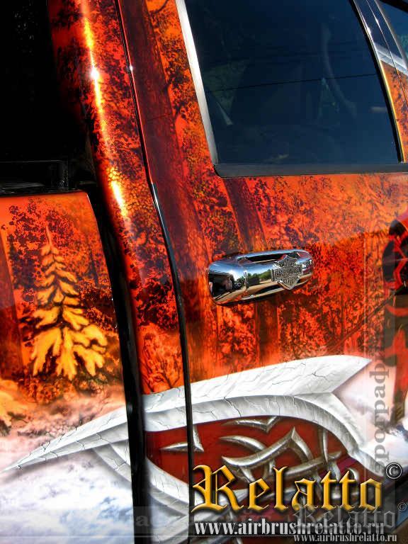 аэрография Dodge Ram 3500 airbrush
