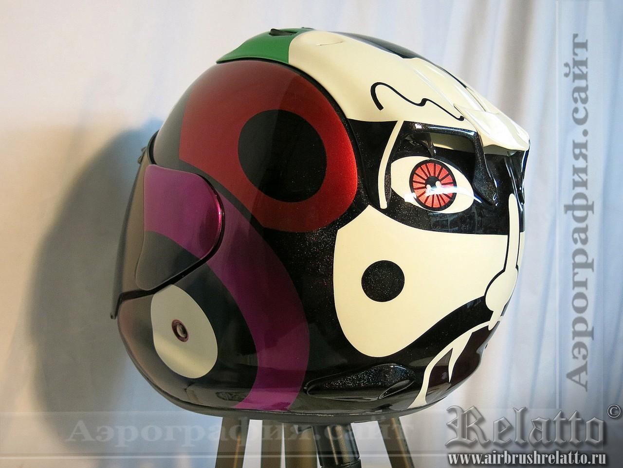 шлем Arai с аэрографией