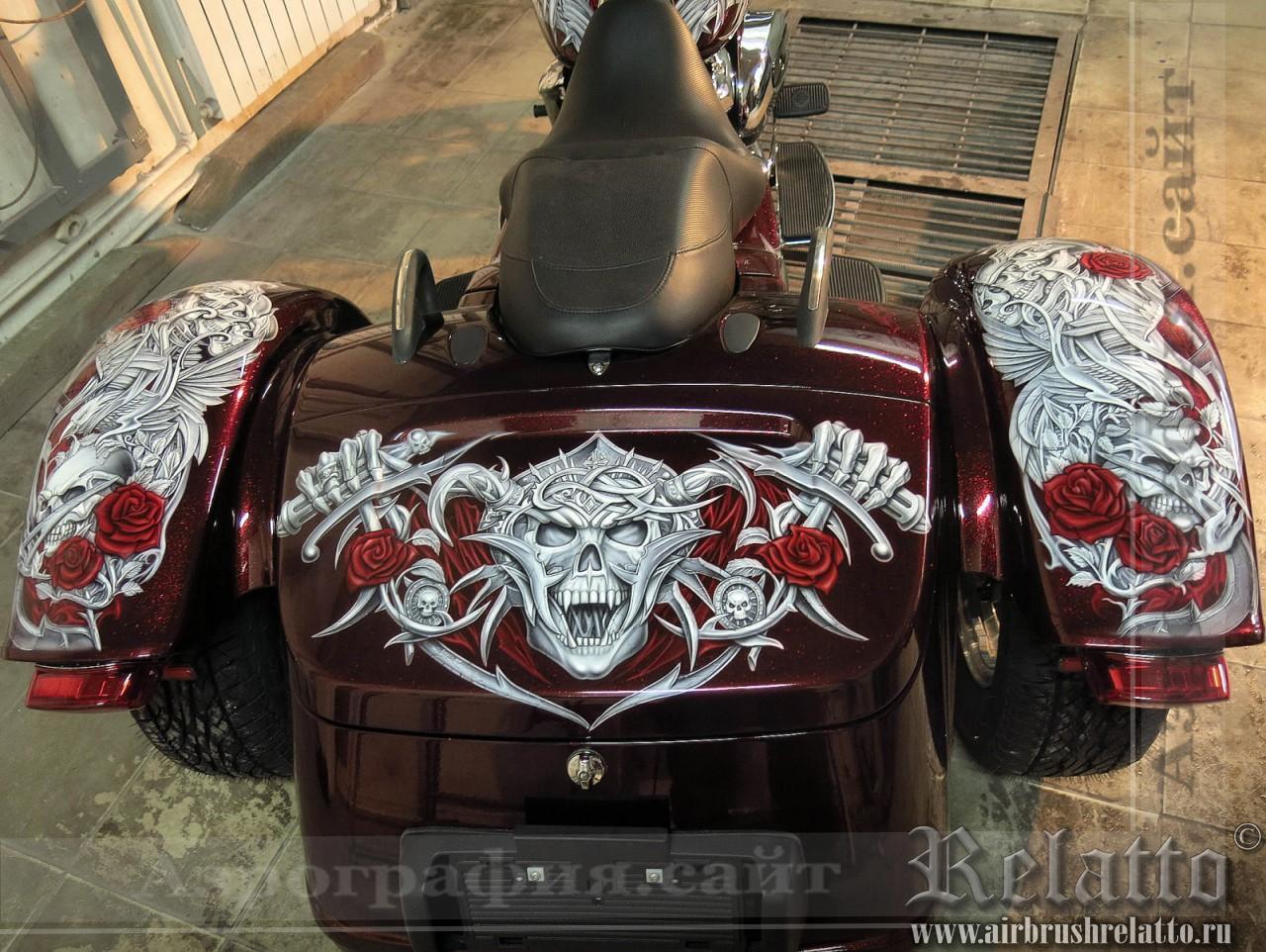 Аэрографика Trike Harley Davidson Freewheeler