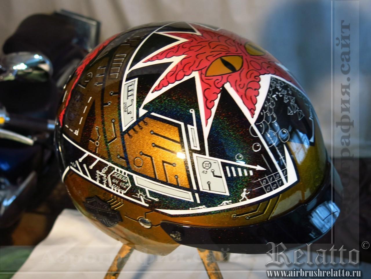 роспись шлема Harley Davidson