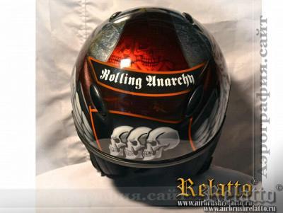 Аэрография на шлеме Rolling Anarchy Белгород