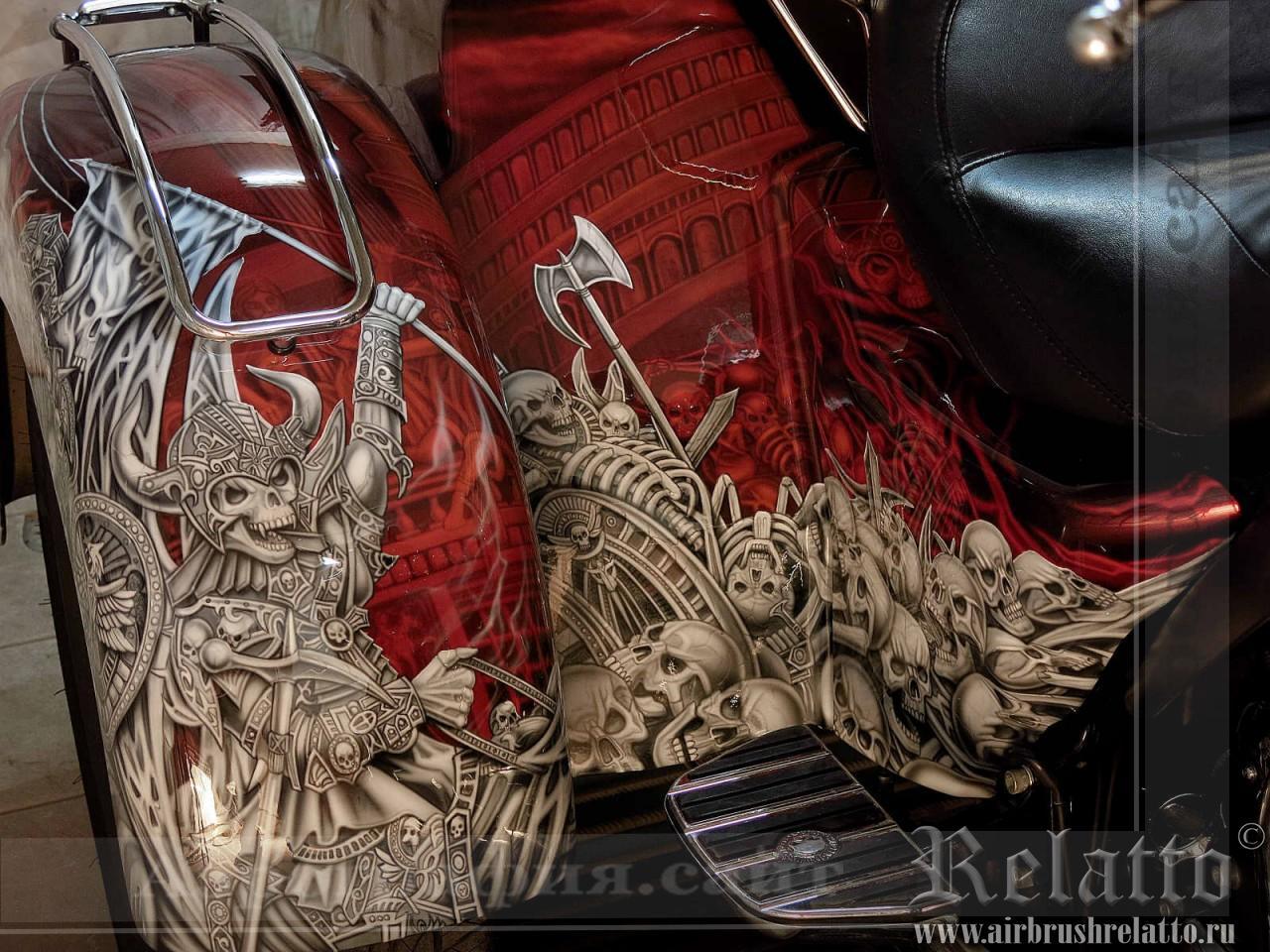 аэрография мото Harley-Davidson Tri Glide