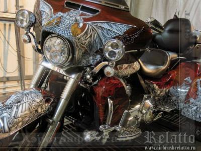 аэрография Harley-Davidson Tri Glide Ultra Classic Relatto