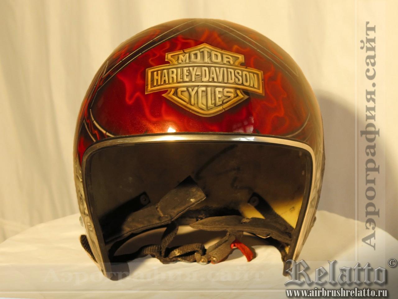 Аэрография шлемика Harley Davidson