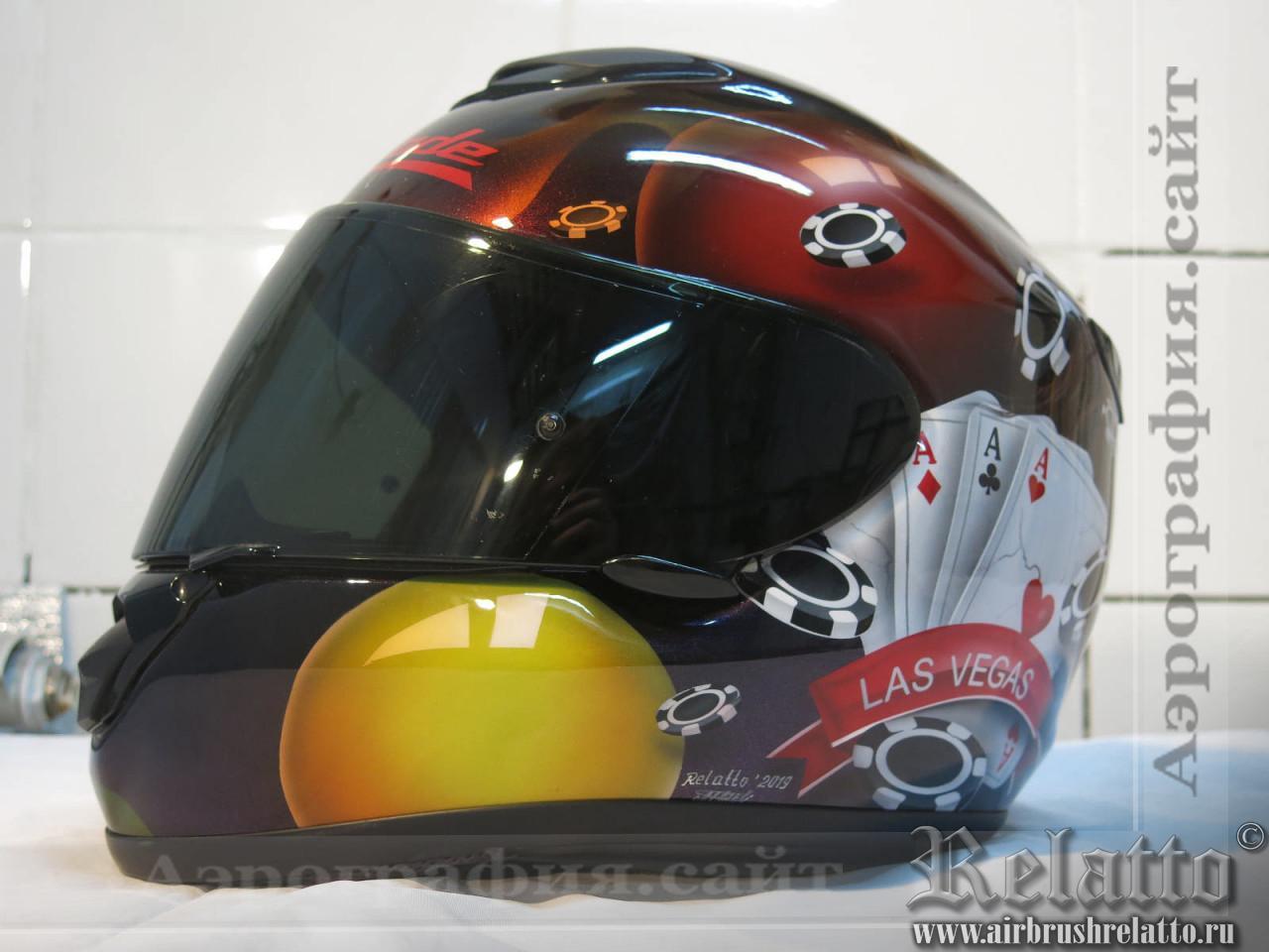 аэрография шлемов казино