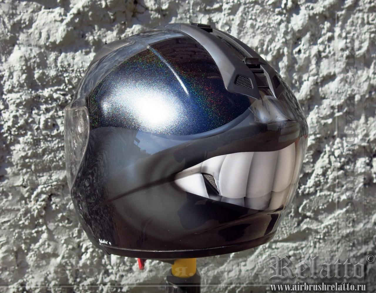 аэрография шлема - жизнерадостный