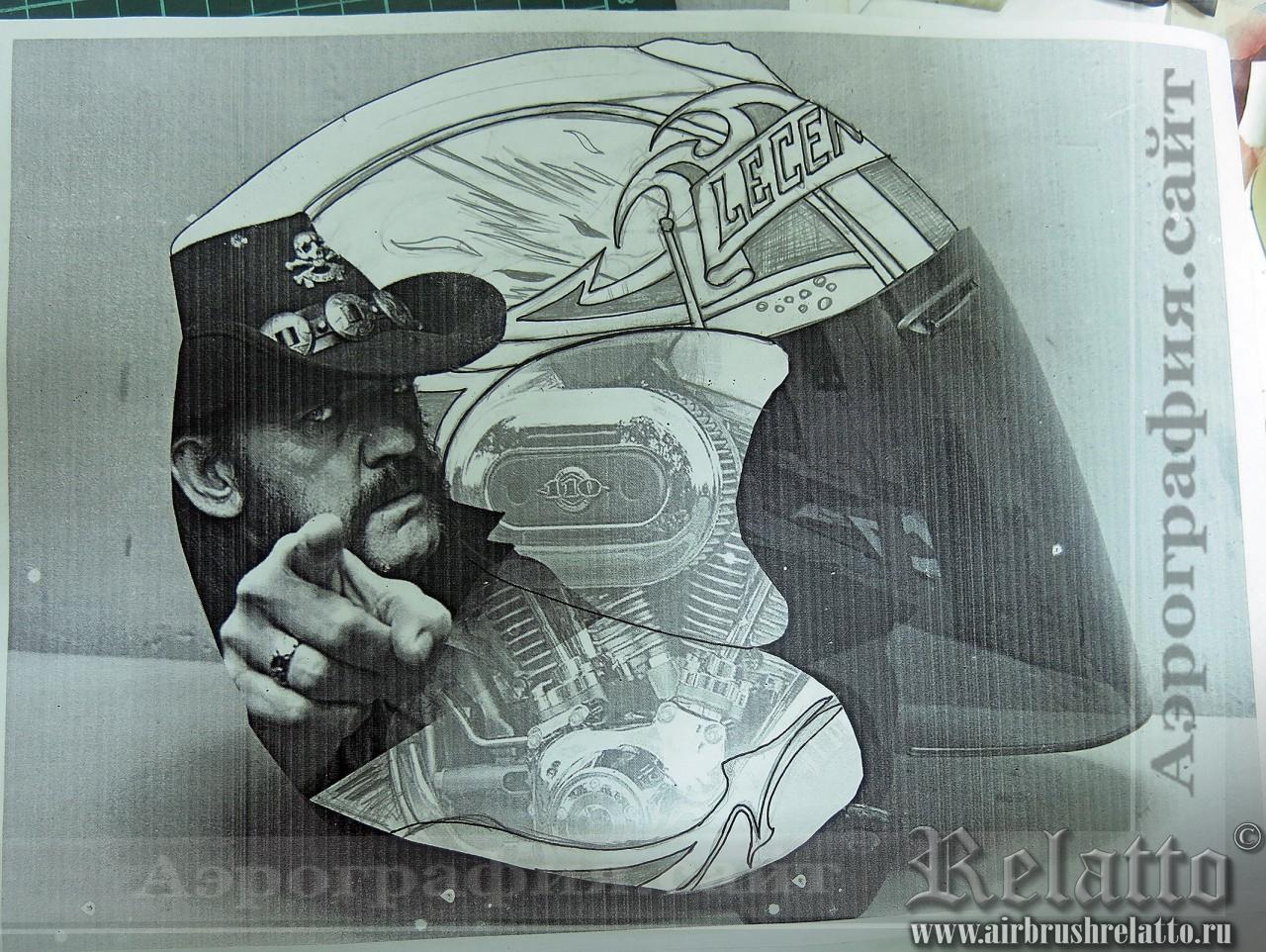 эскиз арография шлема Arai