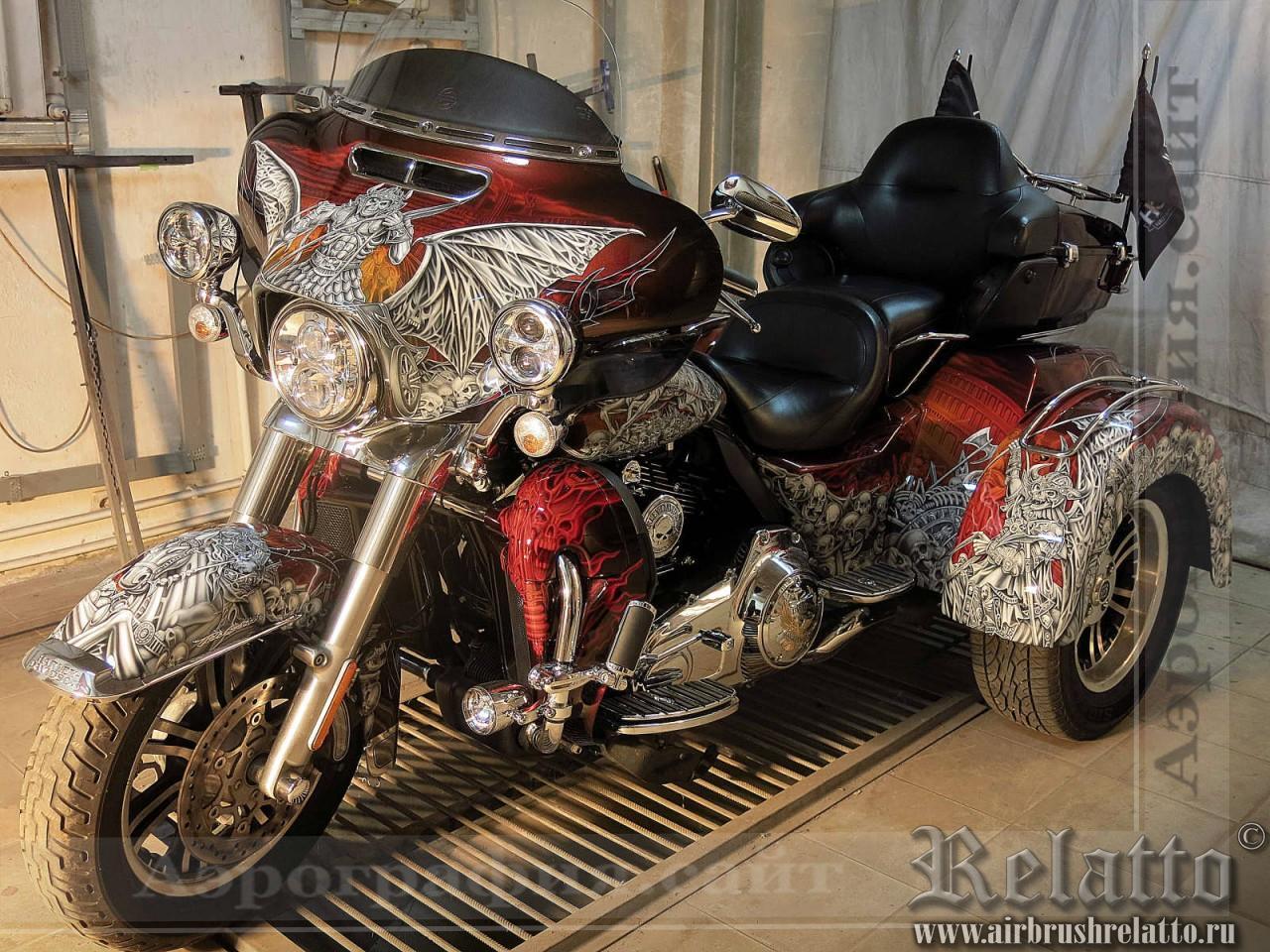 раскраска Harley-Davidson Tri Glide Ultra Classic