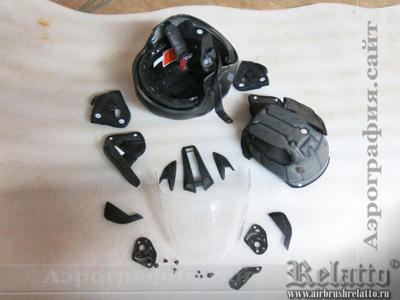 Разборка шлема Harley Davidson