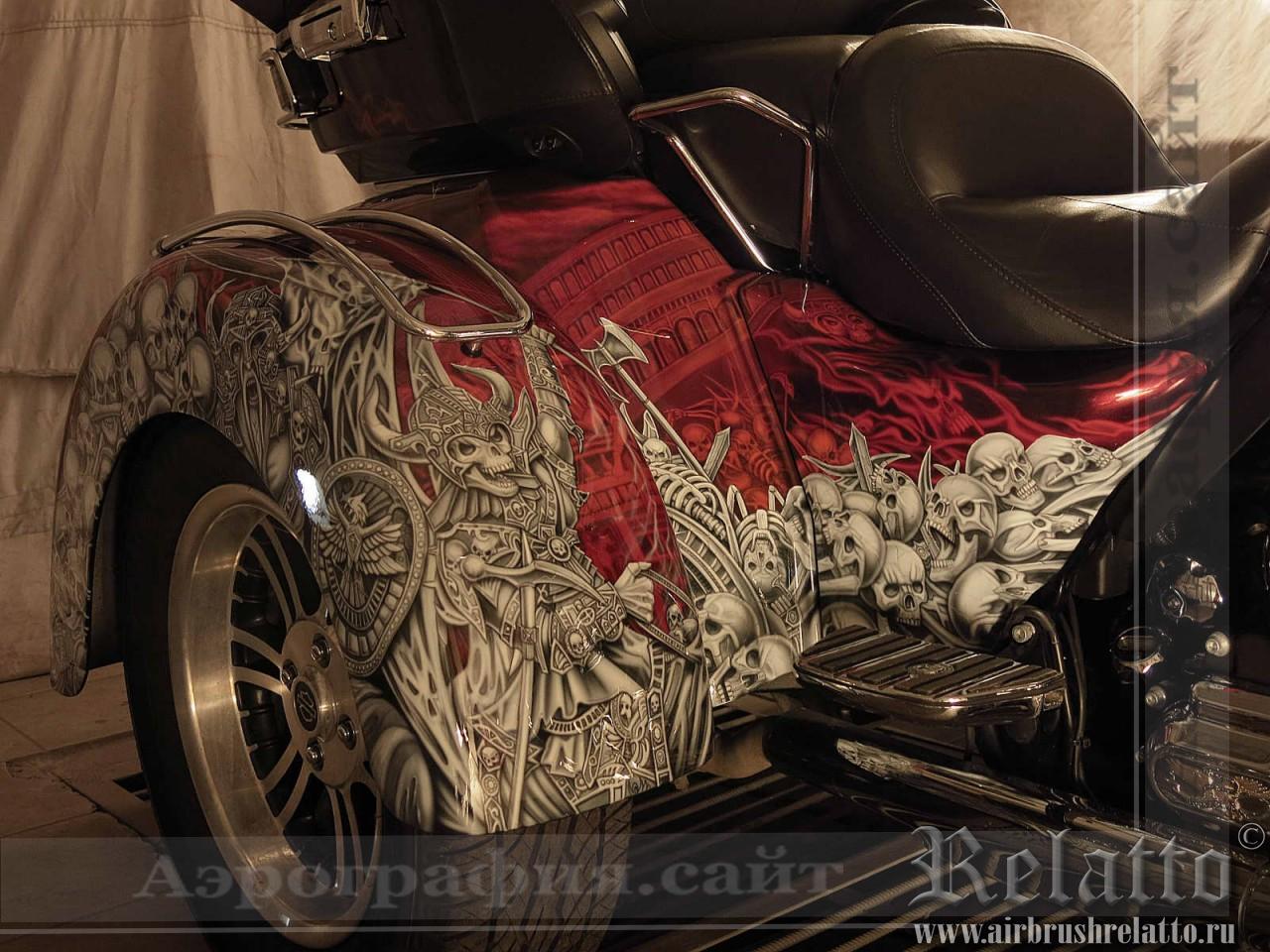 аэрография  Harley-Davidson Tri Glide