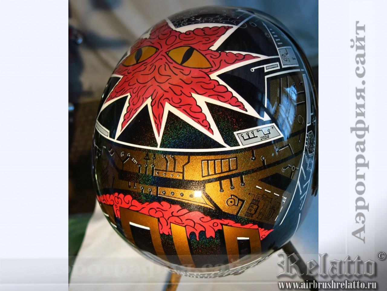 аэрография на шлеме Harley Davidson Краснодар