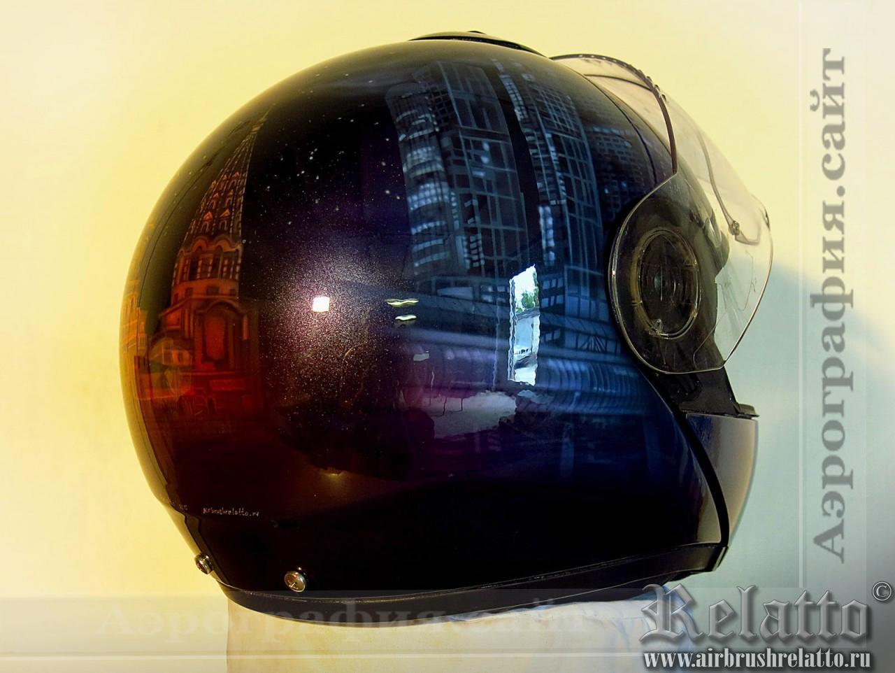 Роспись байкерского шлема